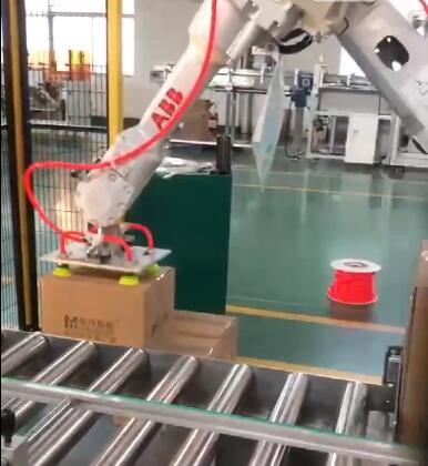 ABB纸箱码垛机器人视频