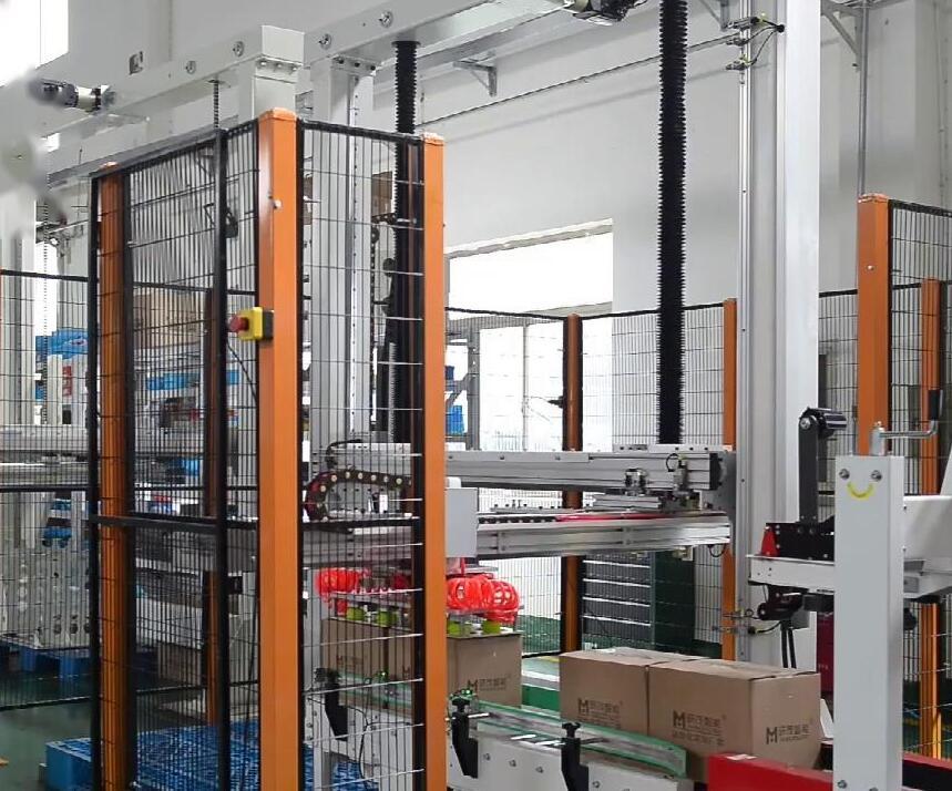 自动纸箱折盖胶带封箱机 坐标码垛机视频