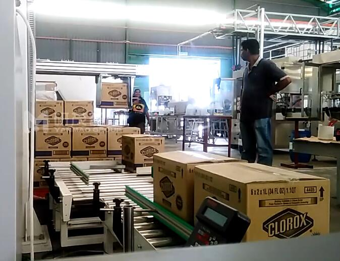 外贸客户纸箱码垛机试机视频
